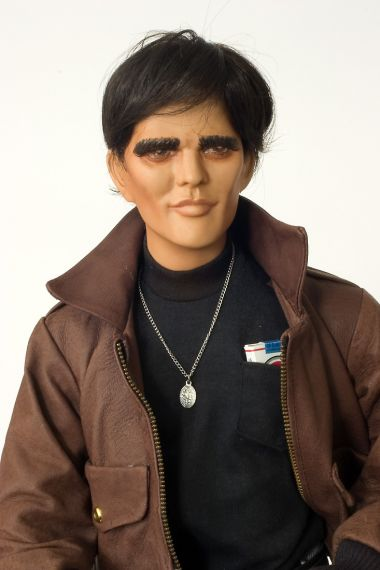 The Outsider Matt Dillon - collectible limited edition porcelain soft body art doll by doll artist Marilyn Houchen.