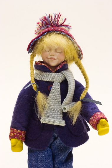 Snow Angel - collectible limited edition resin art doll by doll artist Kathryn Walmsley.