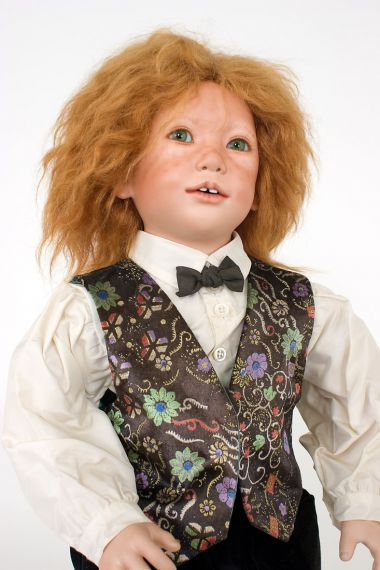 Collectible Limited Edition Porcelain doll Sam by Annette Himstedt