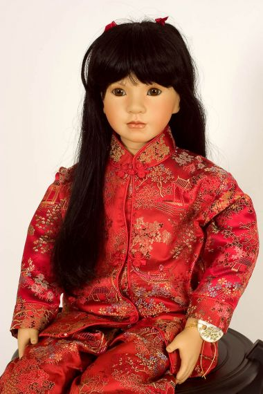 Collectible Limited Edition Porcelain soft body doll Lei by Linda Mason