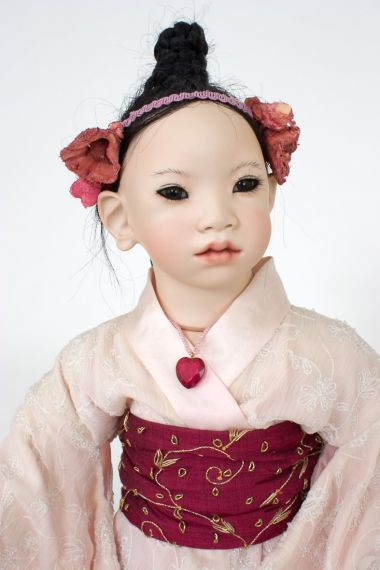 Collectible Limited Edition Porcelain doll Ming by Annette Himstedt