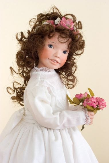Jessica - collectible limited edition porcelain soft body art doll by doll artist Maryanne Oldenburg.
