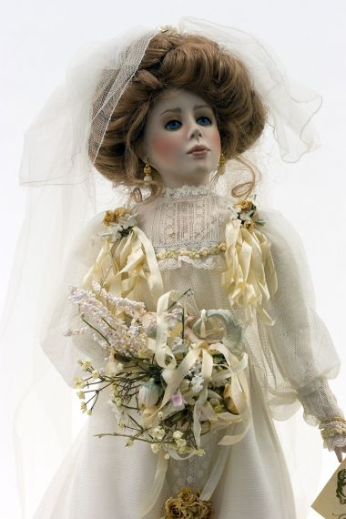 Collectible Artist's Proof Porcelain soft body doll Juliet Bride by Paulette Aprile