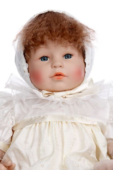 Seraphin - collectible limited edition vinyl soft body play doll by doll artist Corolle.