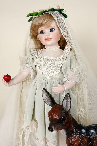 Enchanted Princess - limited edition porcelain collectible doll  by doll artist Jerri McCloud.