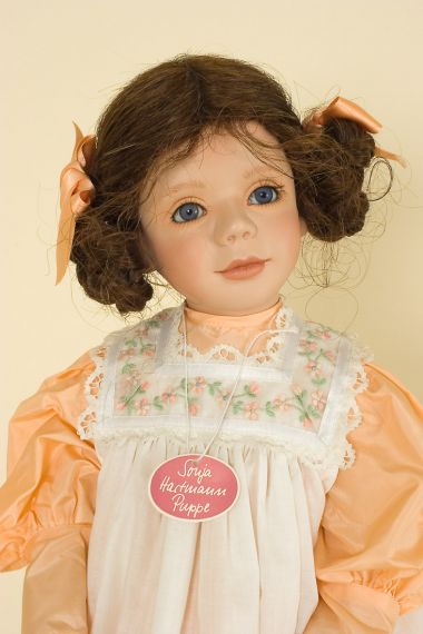 Verena - collectible limited edition porcelain soft body art doll by doll artist Sonja Hartmann.