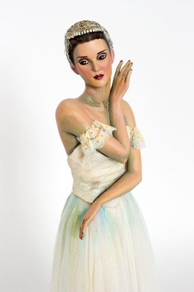 Odette - collectible limited edition paperclay art doll by doll artist Nancy Wiley.