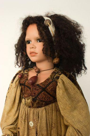 Collectible Limited Edition Porcelain soft body doll Lena by Zofia Zawieruszynski