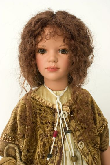 Collectible Limited Edition Vinyl soft body doll Jina by Zofia Zawieruszynski