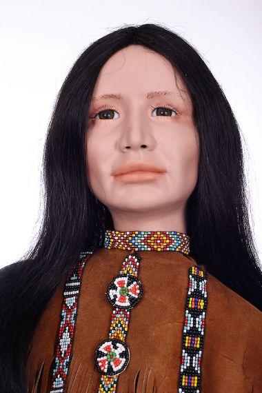 Esteemed Son and Mee Ya No - collectible limited edition porcelain soft body art doll by doll artist Heidrun Vilz Heim.