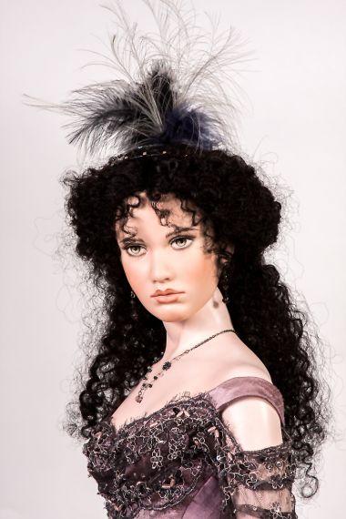 Detail image of Carmen porcelain art doll by Angela Barker