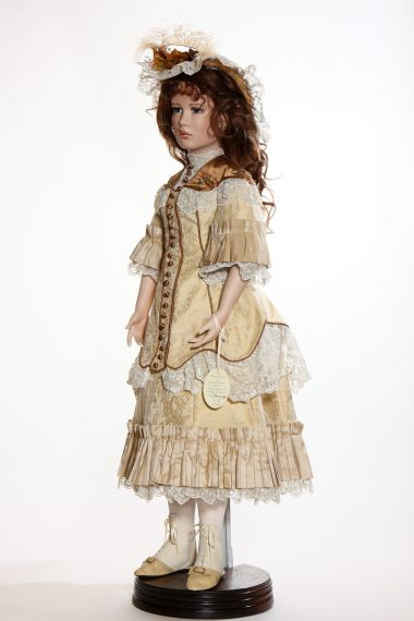 Angela Barker collectible porcelain art doll Dominique