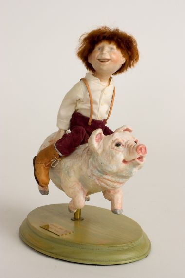 Dustin's Wild Ride - collectible limited edition resin art doll by doll artist Hal Payne.