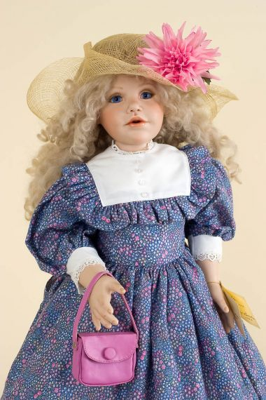 Collectible Limited Edition Porcelain soft body doll Abby by Marilyn Bolden