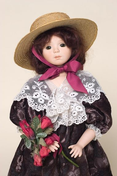 Julia - collectible limited edition porcelain soft body art doll by doll artist Veronica Musoni.