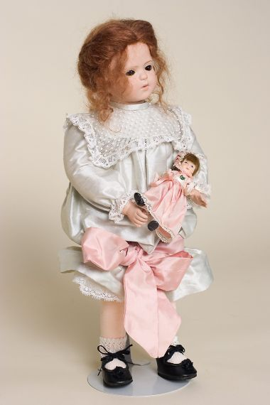 Carola - collectible limited edition porcelain soft body art doll by doll artist Veronica Musoni.