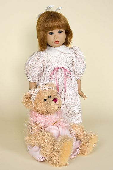 Anni - limited edition vinyl soft body collectible doll  by doll artist Lothar Grossle-Schmidt.