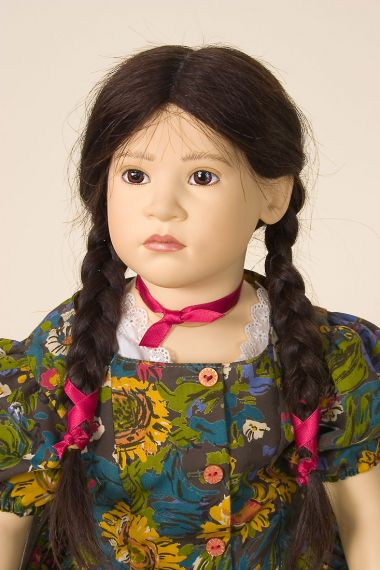 Winona II - limited edition vinyl soft body collectible doll  by doll artist Sabine Esche.