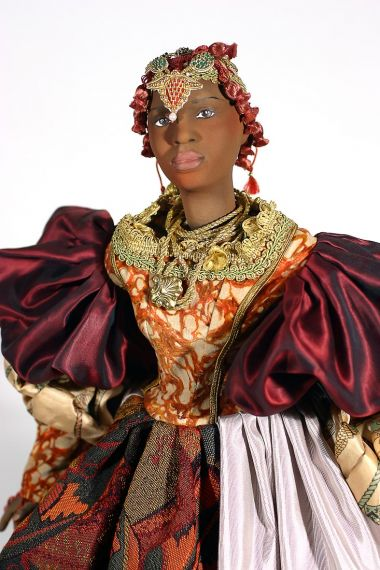 Jeannine II - collectible one of a kind finished porcelain art doll by doll artist Uta Brauser.