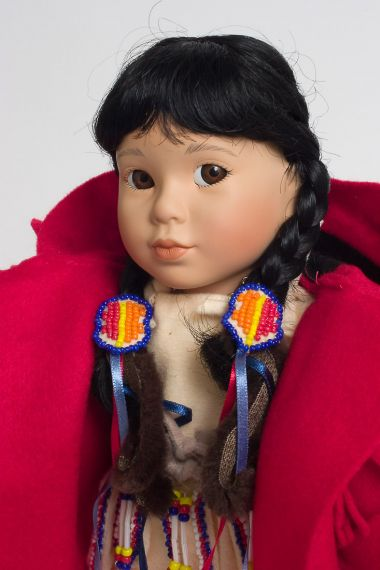 Winter Baby - limited edition porcelain soft body collectible doll  by doll artist Carol Theroux.