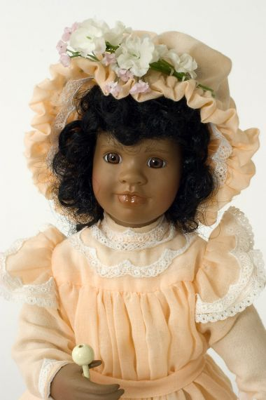 Collectible Limited Edition Porcelain soft body doll Rachel Williams by Linda Mason