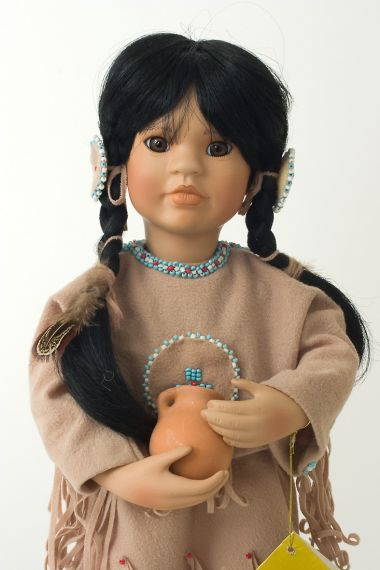 Collectible Limited Edition Porcelain soft body doll Many Stars by Linda Mason