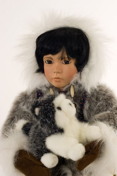 Collectible Limited Edition Porcelain soft body doll Noatak by Linda Mason