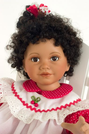 Collectible Limited Edition Porcelain soft body doll Cherry Pie by Ann Timmerman