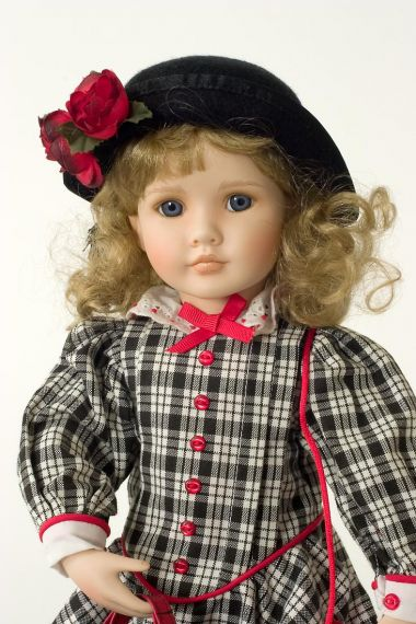Collectible Limited Edition Porcelain soft body doll Shannon's Holiday by Linda Mason
