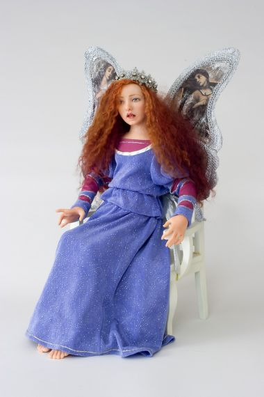 Princess Angelica - collectible one of a kind polymer clay art doll by doll artist Marlena Blanford.