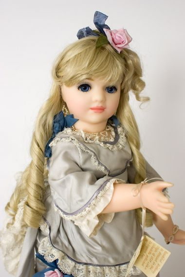 Brittany - collectible limited edition wax soft body art doll by doll artist Brenda Burke.