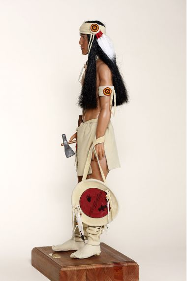 Apache - collectible limited edition resin art doll by doll artist Sherry Housley.