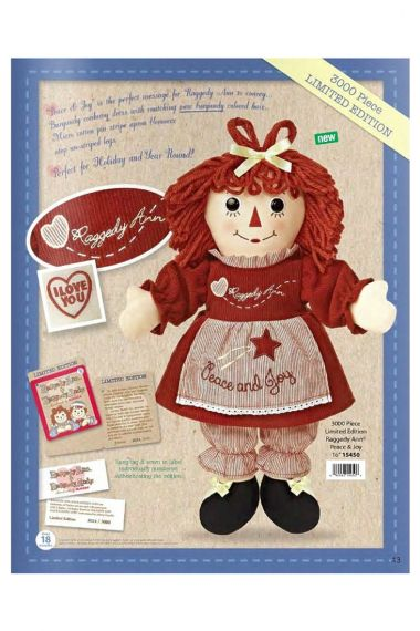 Photo of Raggedy Ann Peace and Joy holiday doll by Aurora.