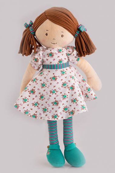 Photo of Katy plush doll from preschool; Dames collection by Bonikka.