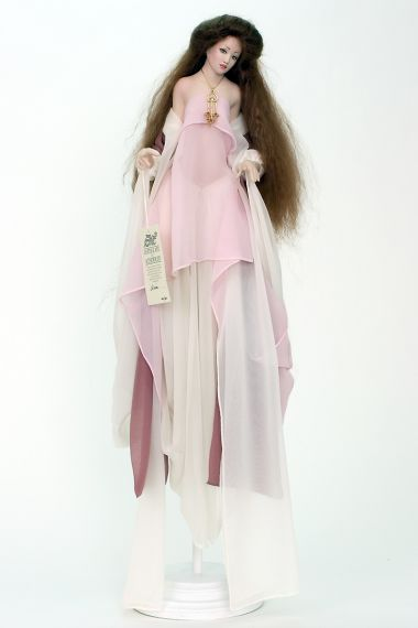 Collectible Limited Edition Porcelain soft body doll Aria by Monika Mechling