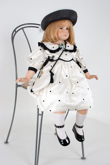 Collectible Limited Edition Wax over Porcelain doll Anna by Hildegard Gunzel