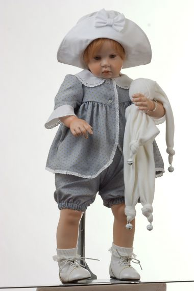 Collectible Limited Edition Wax over Porcelain doll Mara Lee by Hildegard Gunzel