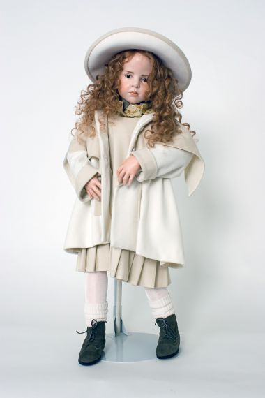 Collectible Limited Edition Wax over Porcelain doll Sophia by Hildegard Gunzel
