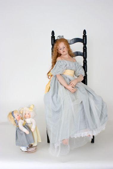 Collectible Artist's Proof Wax over Porcelain doll Ysanne by Hildegard Gunzel
