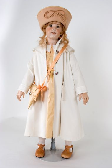 Collectible Limited Edition Wax over Porcelain doll Sabrina by Hildegard Gunzel