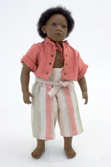 Collectible Limited Edition Vinyl soft body doll Pemba by Annette Himstedt