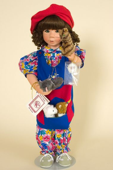 Collectible limited edition vinyl doll Puppet Show by Julie Good Krueger