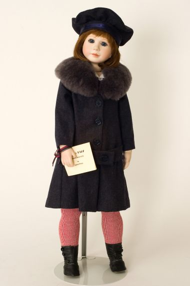 Luci - collectible limited edition porcelain soft body art doll by doll artist Janet Ness.
