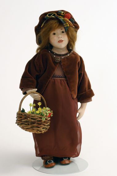 Valentine - limited edition leather collectible doll  by doll artist Malou Ancelin.