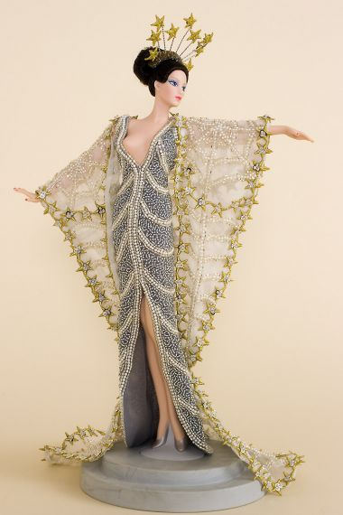 Erte Stardust - collectible open edition porcelain fashion doll by doll artist Mattel.
