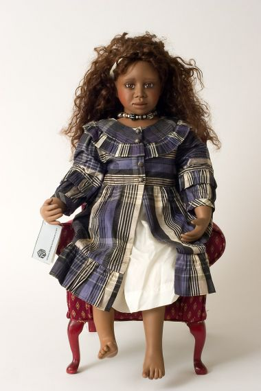 Martha - collectible limited edition porcelain soft body art doll by doll artist Christine Orange.