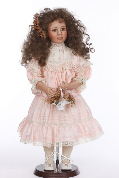 Bella - collectible limited edition porcelain soft body art doll by doll artist Cynthia Martine.