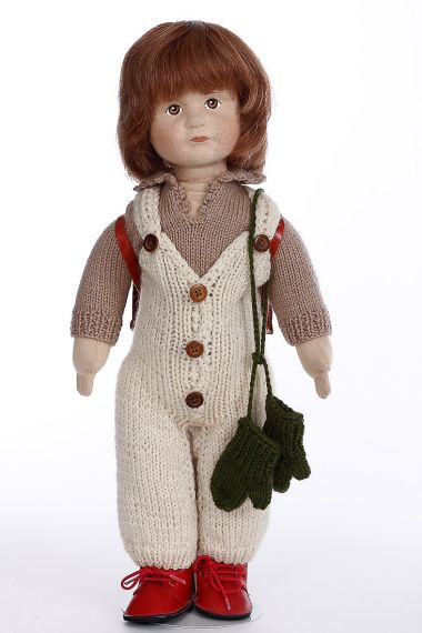 James - limited edition cloth collectible doll  by doll artist Karin Heller.