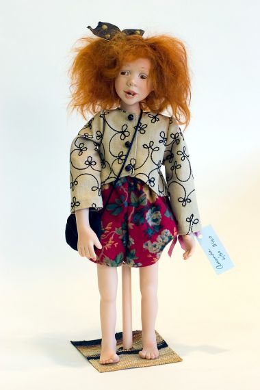 Amanda - collectible limited edition porcelain art doll by doll artist Sandi McAslan.