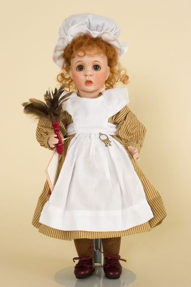 Little Orphan Annie - limited edition porcelain collectible doll  by doll artist Wendy Lawton.
